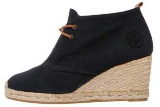 Tory Burch Woven Espadrille Booties