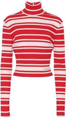 Prada Striped mock-neck sweater