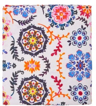 Les Ottomans - Ikat 250cm X 150cm Cotton Tablecloth - Blue Print