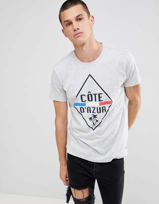 Solid T-Shirt in Cote D'Azur Print