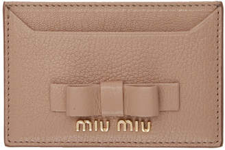 Miu Miu Pink Bow Card Holder