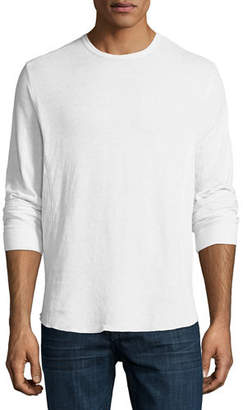 Vince Double-Knit Long-Sleeve Crewneck T-Shirt