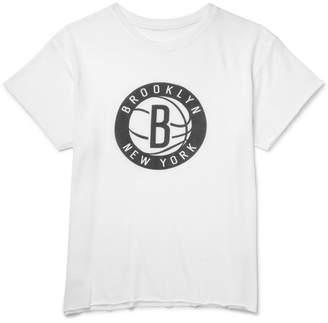 The Elder Statesman + Nba Brooklyn Nets Cashmere And Silk-Blend T-Shirt