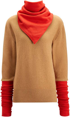 Joseph Scarf Neck Sweater Double Knit