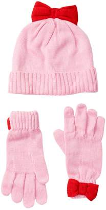 Kate Spade bow hat & gloves set (Big Girls)