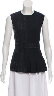 Cédric Charlier Pleated Wool Top