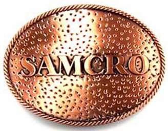 Sons Of Anarchy 100% AUTHENTIC LICENSED METAL BELT BUCKLE 'SOA-SAMCRO-BIKER'- SOA9002BK