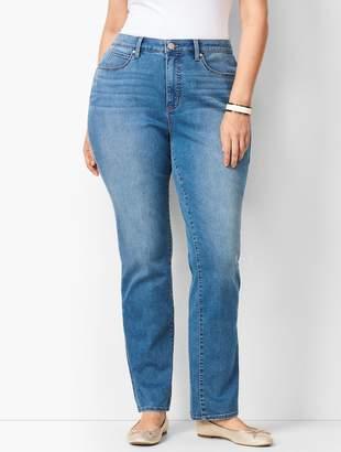 4bbda0beeb605 Talbots Plus Size High-Waist Straight-Leg Jeans - Curvy Fit - Aurora Wash