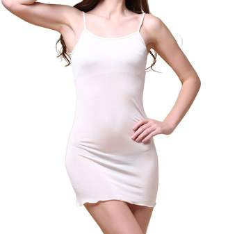 Paradise Silk Pure Silk Knitted Chemise Full Slips Sleepwear