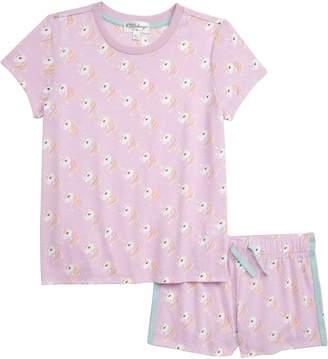 PJ Salvage Unicorn Two-Piece Short Pajamas