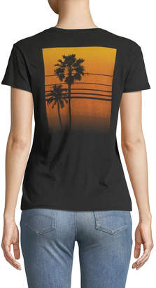 James Perse Relaxed Palm Tree Graphic Tee
