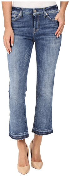 7 For All Mankind 7 For All Mankind Cropped Bootcut w/ Released Hem in Chelsea Lights