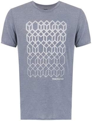 Track & Field geo print t-shirt