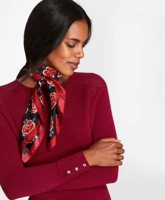 Brooks Brothers Pointelle-Yoke Cashmere Sweater