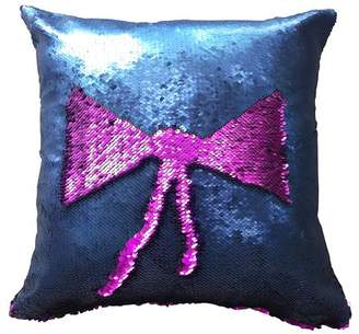 LinTimes Sequins Pattern Variable Back Cushion Pillow 40*40CM Purple and Blue
