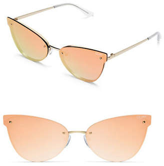 Quay Frameless 150MM Mirrored Cat Eye Sunglasses