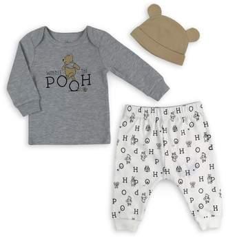 Disney Baby's 3-Piece Cotton-Blend Top, Pants Beanie Set