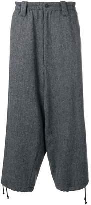 Yohji Yamamoto tweed drop crotch trousers