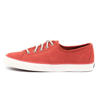 Sperry Seacoast washable leather Dark coral Sneakers Womens Shoes Casual Casual Sneakers
