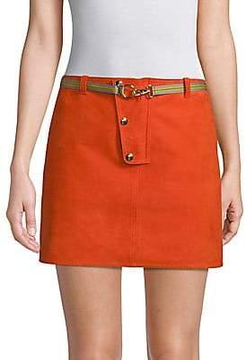 Diane von Furstenberg Women's Leather Mini Skirt