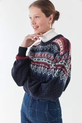 Urban Renewal Vintage Remade Fair Isle Cropped Sweater