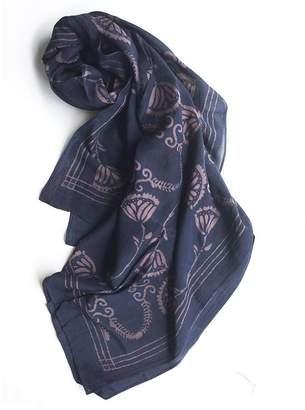 Ichcha Cotton & Silk Danish Block Print Scarf