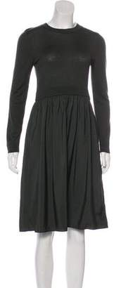 Cos Long Sleeve Knee-Length Dress