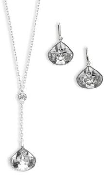 Swarovski Via Necklace & Earrings Set