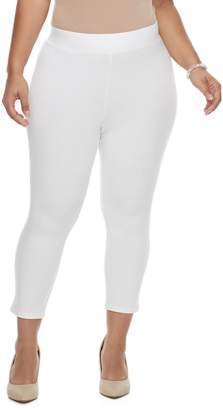 Utopia By Hue Plus Size Utopia by HUE Ankle Slit Leggings