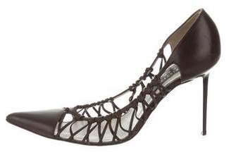 Christian Lacroix Leather Pointed-Toe Pumps