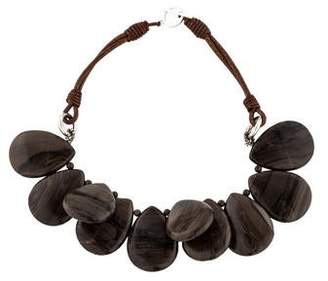 Brunello Cucinelli Jasper Bead Strand Necklace