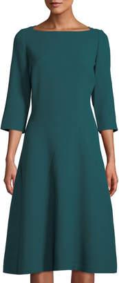 Lafayette 148 New York Bristol 3/4-Sleeve A-Line Dress