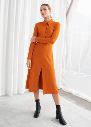And other stories Front Slit Midi Dress
