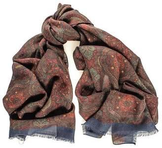 Black Ravello Italian Wool Scarf