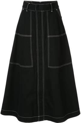 G.V.G.V. contrasting stitch skirt
