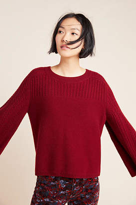 Pine Cashmere Brianna Bell-Sleeved Sweater