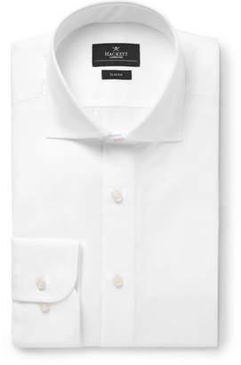 Hackett White Mayfair Slim-Fit Cotton-Poplin Shirt