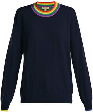 Burberry Rainbow-neck merino wool sweater