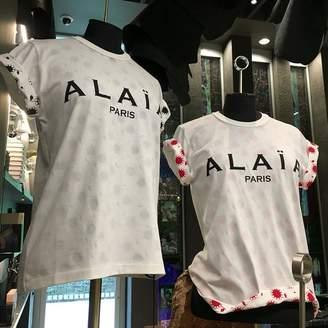 Alaia Paris Logo T Shirt - Black / Large (42) - White/Black/Red