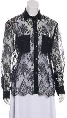 Paul & Joe Lace Long Sleeve Button-Up w/ Tags
