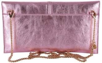 Patrizia Pepe Metallic Leather Clutch