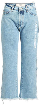 Natasha Zinko High-Waist Stonewash Cropped Jeans