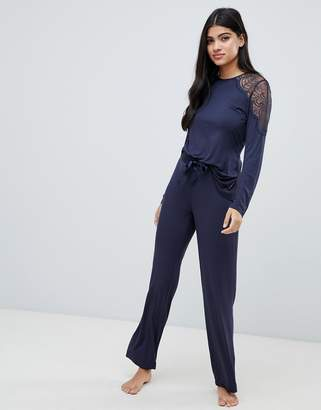 Ted Baker Signature Jersey & Lace Pant