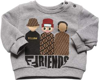 Fendi Friends Print Cotton Sweatshirt