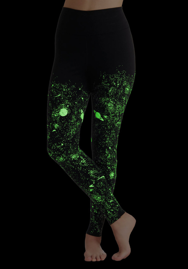 Galaxy's Greatest Glow-in-the-Dark Leggings