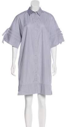 Victoria Beckham Victoria Stripe Button-Up Dress