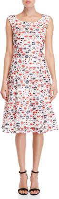 Yumi Fishnet Floral Dress