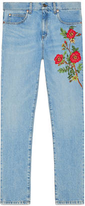 Embroidered denim pant $750 thestylecure.com