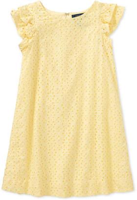 Polo Ralph Lauren Ralph Lauren Eyelet Cotton Cotton Batiste Dress, Little Girls
