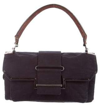 Lanvin Leather-Trimmed Corduroy Satchel